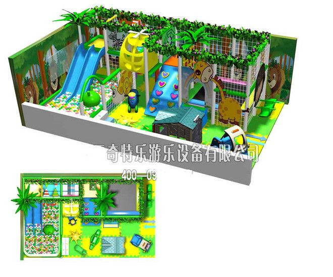 淘气堡乐园 室内淘气堡 30平方