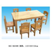 橡胶木六人桌,8-81-8A0488