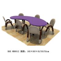 幼儿弯形塑料桌子,9-6-8B0012