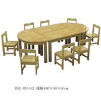 原木课桌椅8-89-8A0552