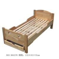 橡胶木单人床8-92-8A0578