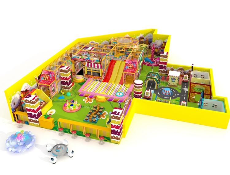 根據場地定制淘氣堡兒童樂園