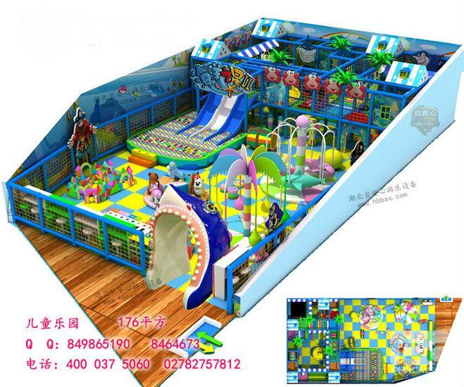 海洋世界儿童乐园 海洋之星淘气堡 176平方